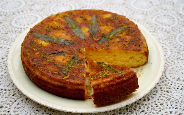 Lemon Verbena Syrup Cake