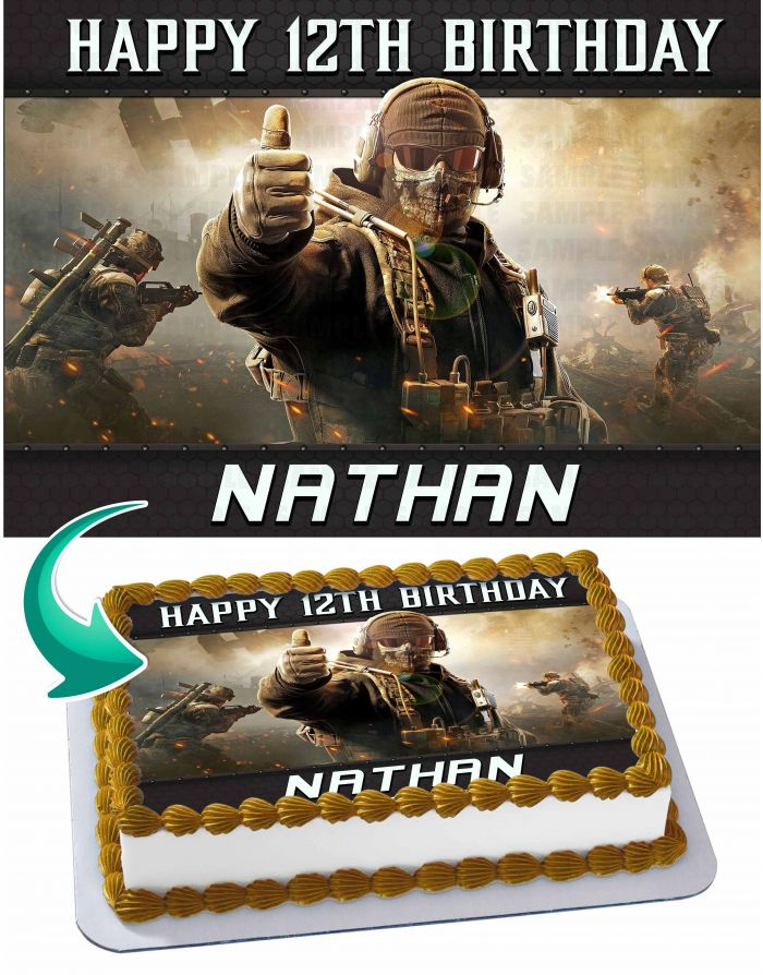 Call Of Duty Mobile Edible Cake Toppers