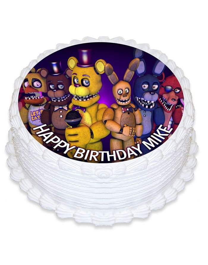 Five Nights At Freddys Edible Cake Topper