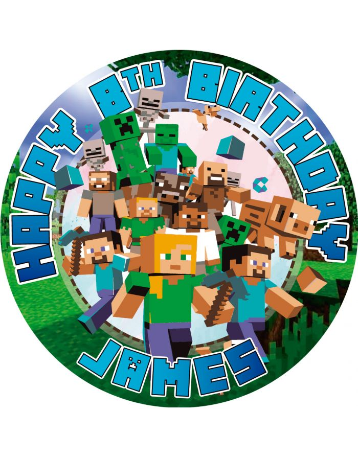 Minecraft Cake Image Minecraft Edible Cake Topper Minecraft Edible Image For Cake Minecraft Birthday Cake Toppers Minecraft Cake Topper Minecraft Topper For Cake