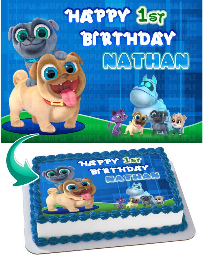 Puppy Dog Pals Edible Cake Topper