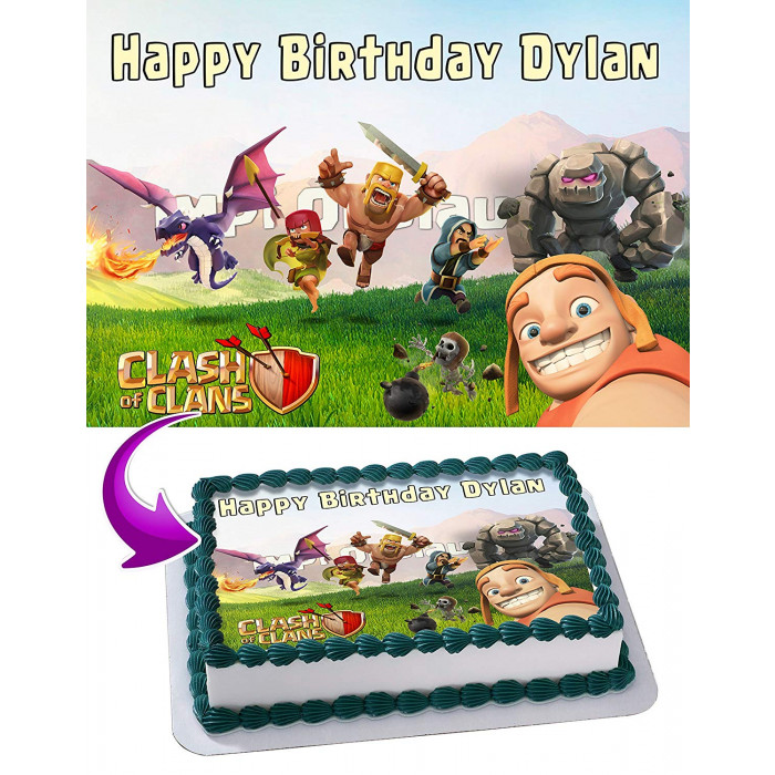 Clash Of Clans Edible Cake Topper