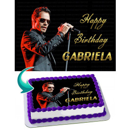 Marc Anthony Edible Image Cake Topper Personalized Birthday Sheet