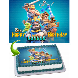 Clash Royale Edible Image Cake Topper Personalized Birthday Sheet