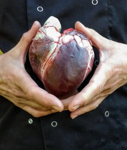 Dark Chocolate Human Heart