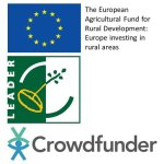 Logos of EAFRD, LEADER and Crowdfunder