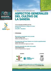 Programa 'Aspectos generales del cultivo de la sandía'