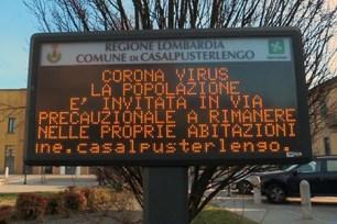 Coronavirus, Castelpusterlengo: invito alla popolazione a rimanere a casa