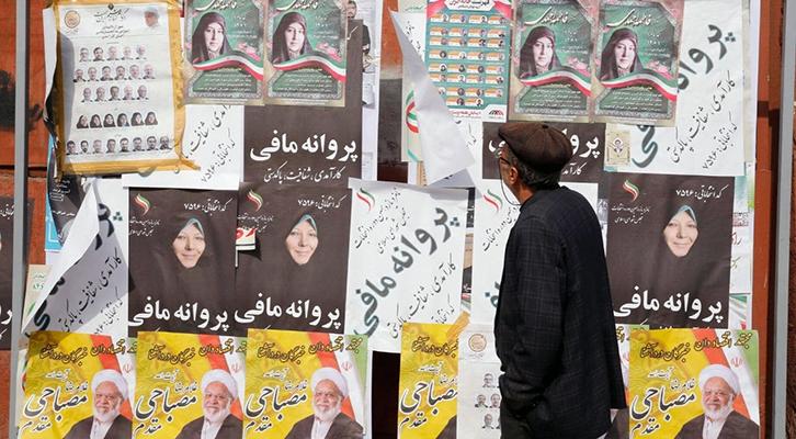 Iran: manifesti elettorali per le elezioni politiche del 26.2.2020