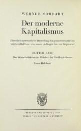 Si deve a Werner Sombart la creazione del termine 'Capitalismo'