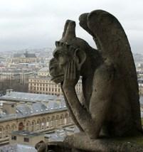 Un garguglia di Notre-Dame