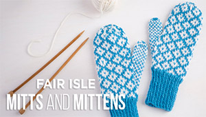 CBug Fair Isle Mitts and Mittens