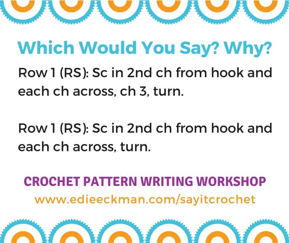 Crochet Pattern Writing Workshop Real Time Online Edie Eckman