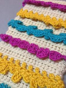 Christmas Stocking with crocheted trim