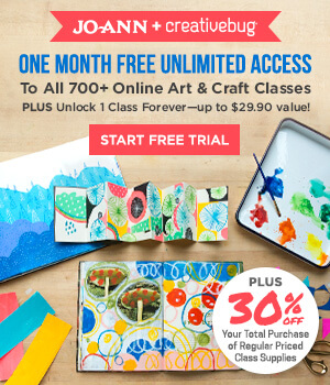 Creative Bug and JoAnn Special Offer