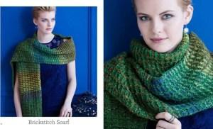 Knit Noro Brickstitch Scarf