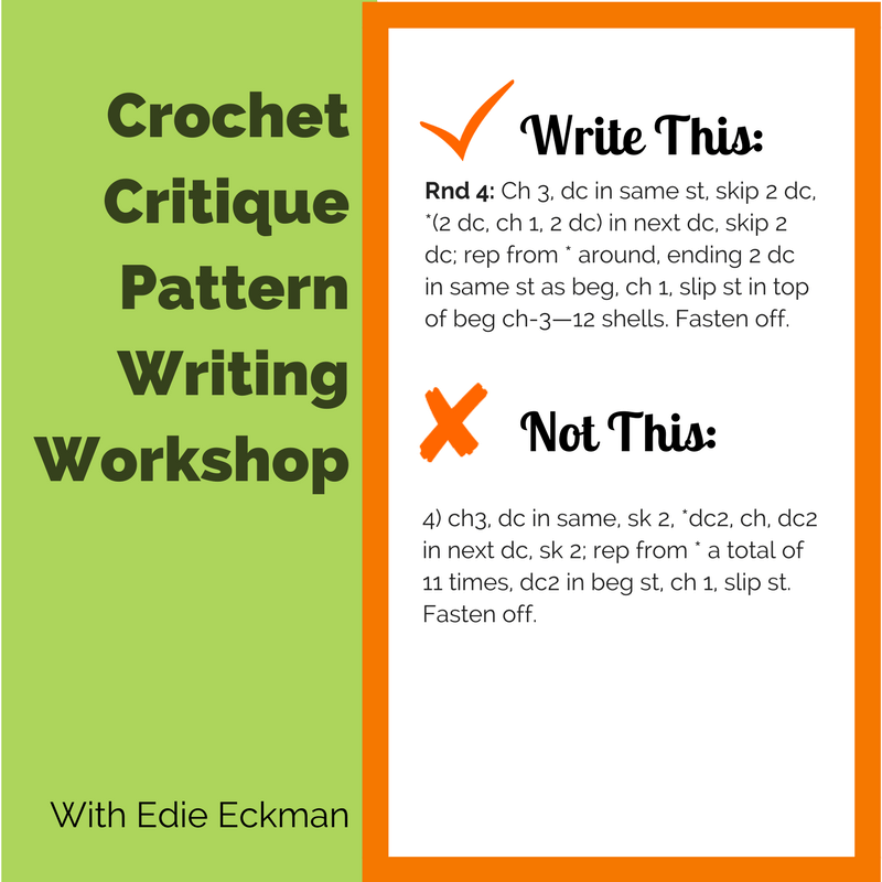 Crochet Critique Workshop