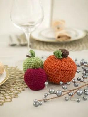 Lion Brand free crochet pattern Petite Harvest Pumpkin