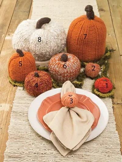 Loom Knit Pumpkin Patch Knit Pattern Annie's