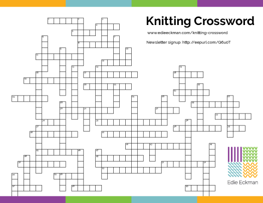 free knitting crossword puzzle