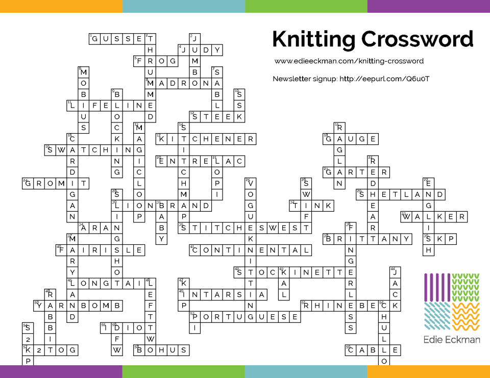 Knitting Crossword Key