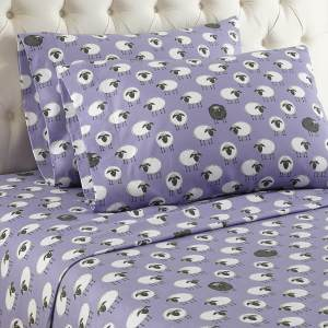 Sheep Flannel Sheet Set