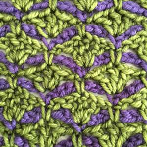 Three Pines Shawl Crochet closeup