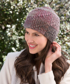 Shaded Mitered Hat Knit