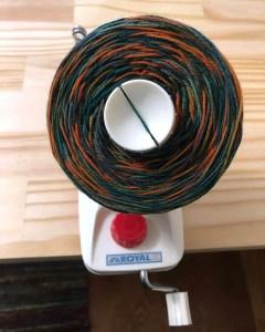 Yarn on winder