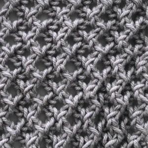 Easy Lacy Rib swatch in grey