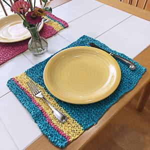 Easy Summer Placemats Free Knitting Pattern by Edie Eckman