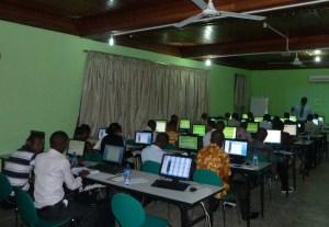 Teachers attending Technology Integration in the Classroom training.