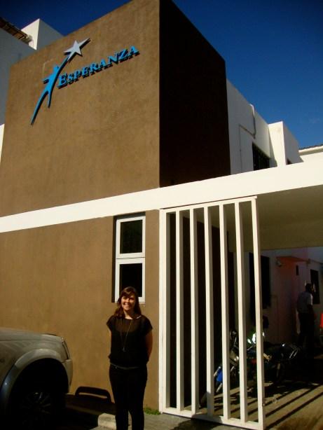 Rachel's first week in the D.R. already working hard at Esperanza!