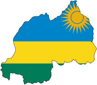 Rwanda Flag Country Outline