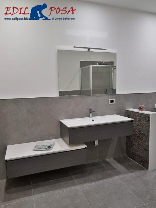 Piastrelle per il bagno: il trionfo del gres, gioco a LED
