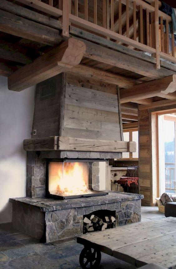 Arredo rustico abitazione in montagna