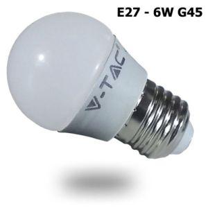 V-TAC LAMPADINA A BULBO E27 6W G45 LUCE CALDA-NATURALE-FREDDA SKU 4247-4248-4249