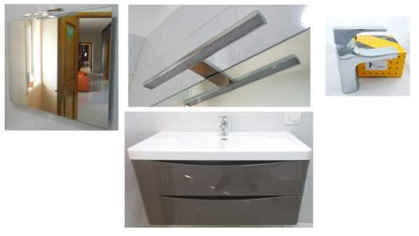 Mobile set bagno modello lorenza base lavabo con specchiera