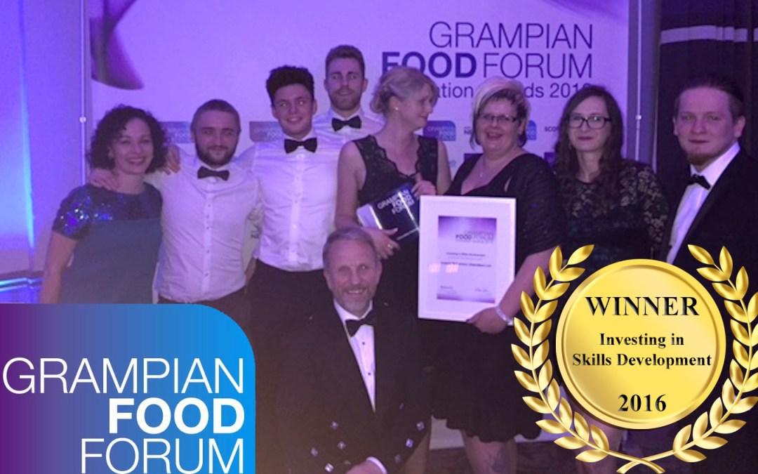 Winners! Investing in Skills Development at the Grampian Food Forum Awards 2016