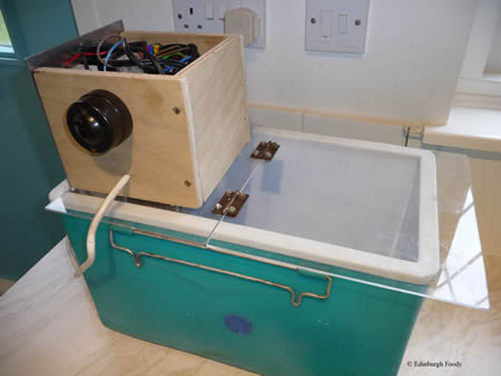 Our sous vide cooker and coolbox!