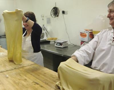 Making the strudel dough