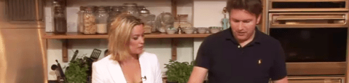 James Martin and Amanda Hamilton get into cooking