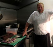 Craig Millar in his kitchen
