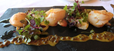 Scrabster scallops with puy lentils