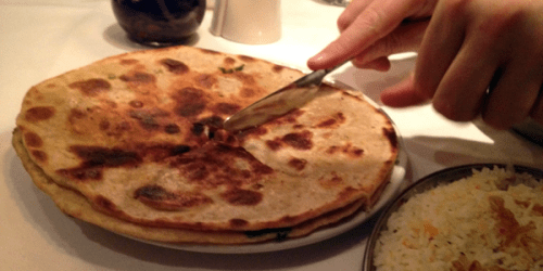Stuffed paratha is a meal in itself.