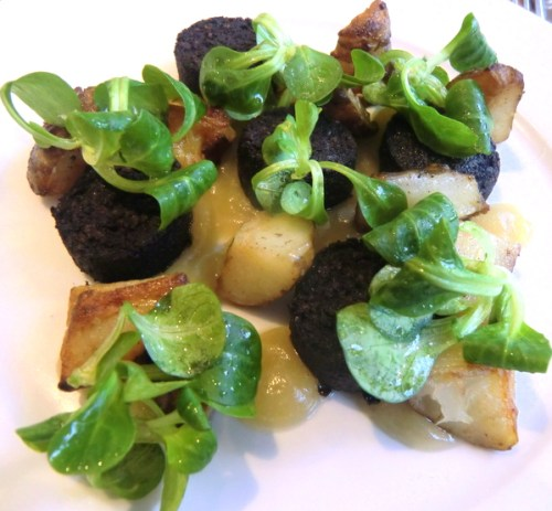 Jerusalem Artichokes and Black Pudding