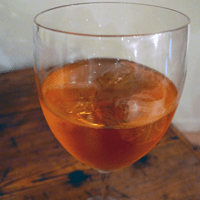 An Aperol spritz. Tasty stuff.