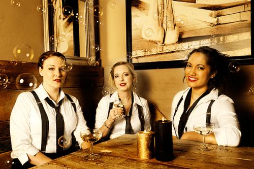 Katrina Kirkwood, Jessie Jean and Sarah Regan, OzCabaret's talented songeliers.