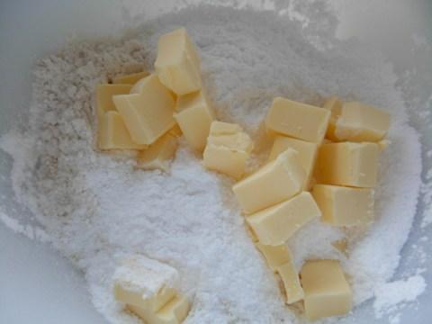 Sablee pastry ingredients