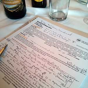Careful, if messy, note helps me remember my impression of the whisky and beer I've been trying.